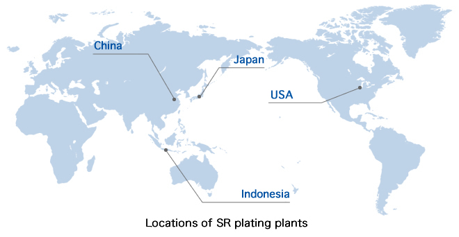 Locations of SR plating plants