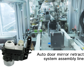 Automatic line for door mirror electric folding units